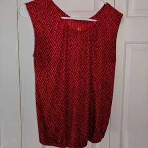 Loft blouse by Ann Taylor SP Bold Red color